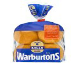 Warburtons White Sliced Rolls
