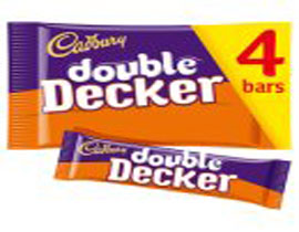 Cadbury Double Decker Chocolate Bar 4 Pack