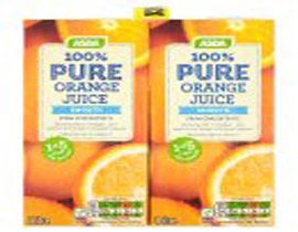 Pure Orange Juice Smooth Cartons