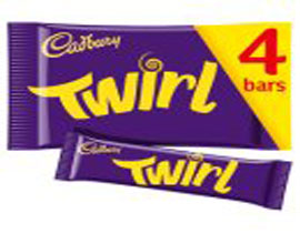 Cadbury Twirl Chocolate Bar 4 Pack